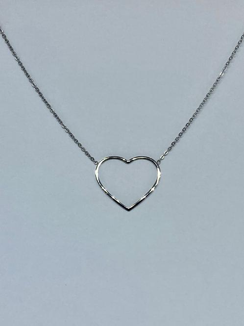 Rock Heart Necklace