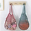 Thumbnail: String Bag in Dusty Pink & Teal
