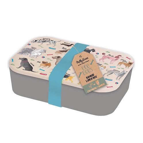 Bamboo Debonair Dog Lunch Box made from Bamboo, plastic free