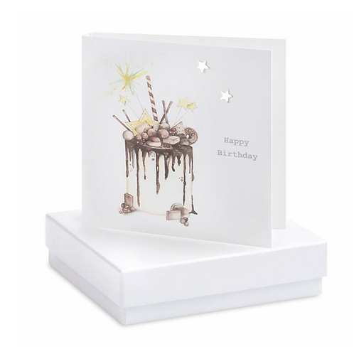Chocolate Cake Boxed Earring Card
