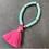 Teen Summer Bracelet with Tassel in Pink