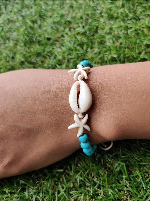 Teen Turquoise Shell & Bead Bracelet