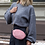 Thumbnail: Pink Velvet Bumbag/Crossbody