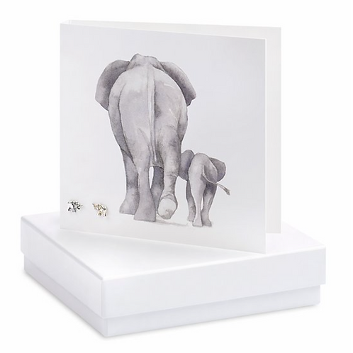 Elephant Boxed Earring Card