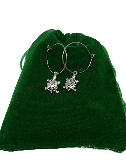 Turtle Hoop Earrings