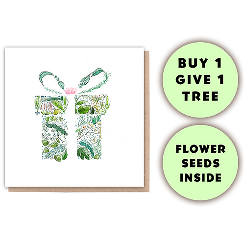 1 Tree Planted Card - Green Gift