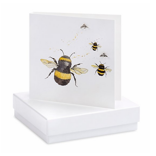 Bumble Bees Boxed Earring Card