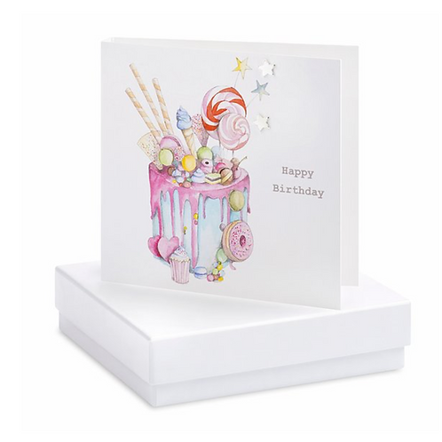 Truly Scrumptious Cake Boxed Earring Card