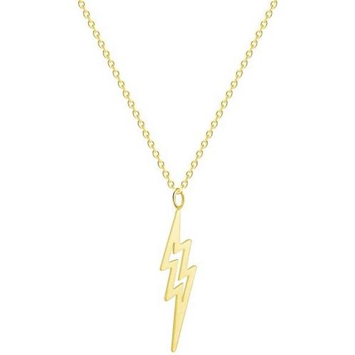 Lightning Bolt Necklace Gold