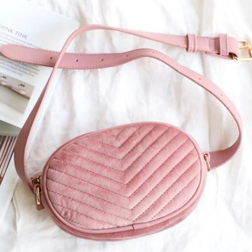 Pink Velvet Bumbag/Crossbody