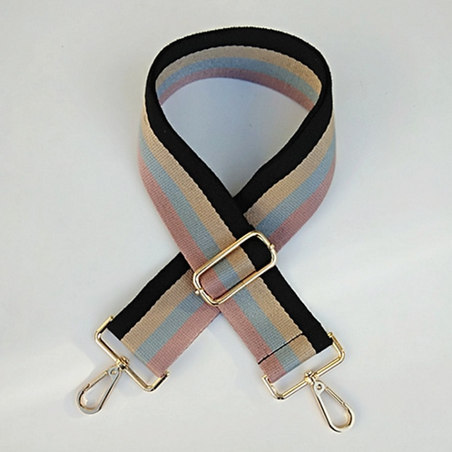 Pink Stripe Bag Strap