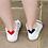 Thumbnail: Heart Back Trainer Socks
