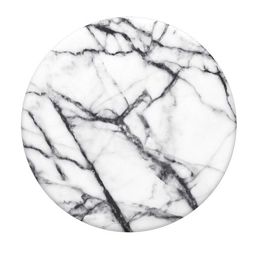 Dove White Marble Pop Socket