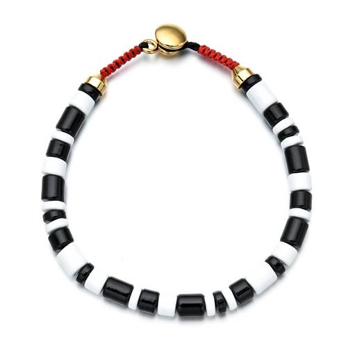Black & White Enamel Bracelet