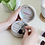 Thumbnail: Mini Round Travel Jewellery Case in Grey