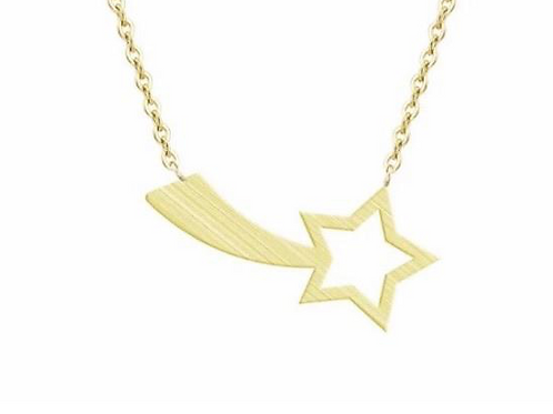 Shooting Star Necklace Gold