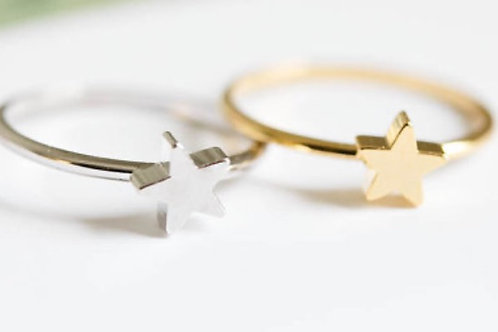 Star Ring Silver Gold
