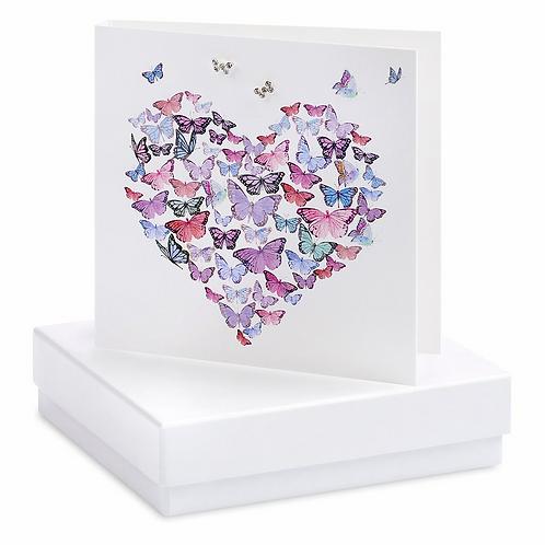 Butterfly Heart Boxed Earring Card
