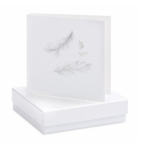 Feather Boxed Earring Card