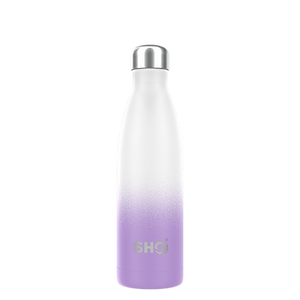 Ombre Insulated 500ml Water Bottle in Frosted Lilac
