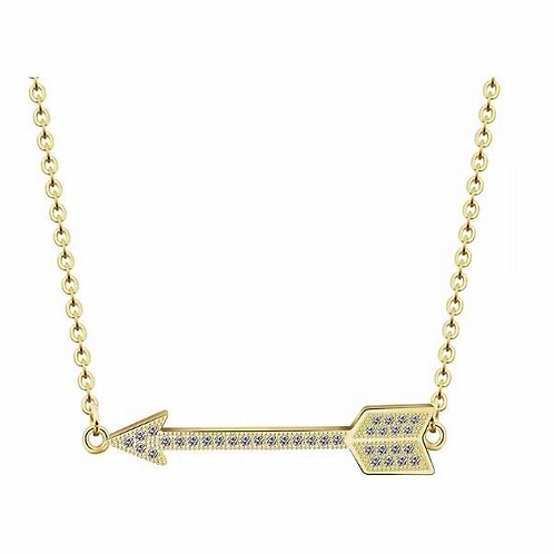 Sparkly Arrow Necklace Gold