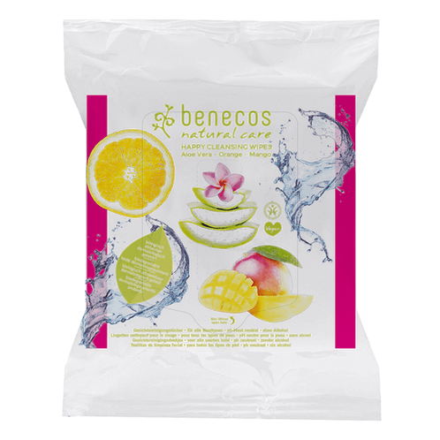 Benecos Natural Biodegradable Facial Cleansing Wipes