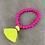Hot Pink Beaded Bracelet with Tassel