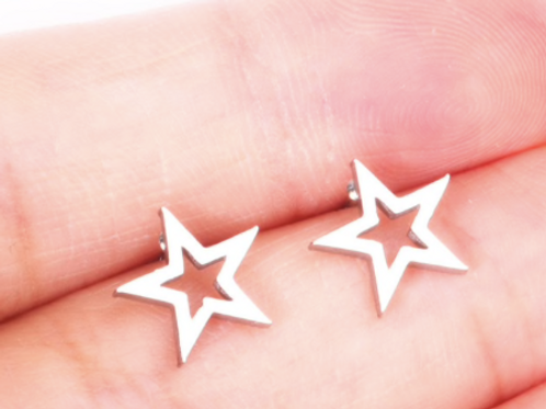 Hollow Star Stud Earrings