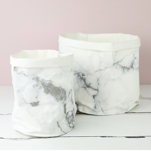 Marble Round Medium Storage Bag