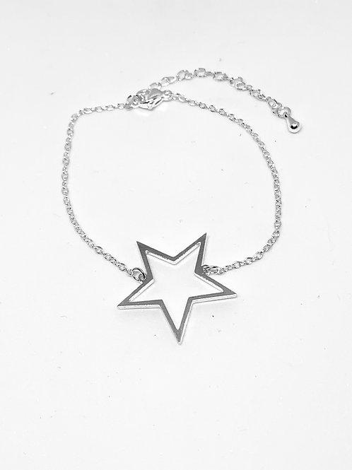Silver Rockstar Chain Bracelet