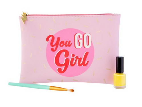 """Sass and Belle - """"You Go Girl"""" Travel Pouch"""