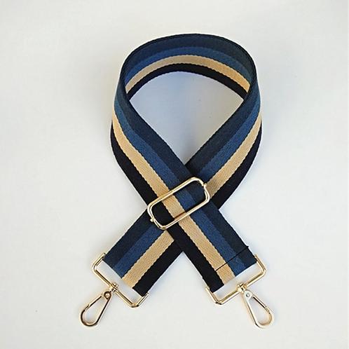 Blue Stripe Bag Strap