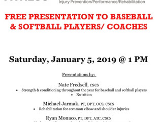 Free Presentation For Baseball/Softball Athletes, Coaches and Parents