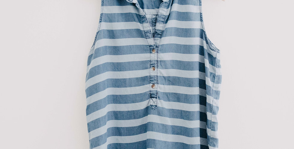 Velvet Heart/ Stripe Chambray Tank