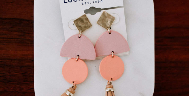 Pink Tassle Dangle Earring