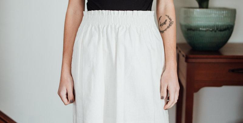 White Scallop Skirt