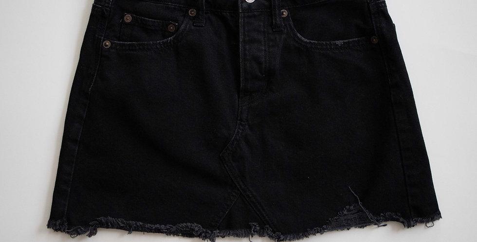 American Eagle / Black Denim Cutoff Skirt