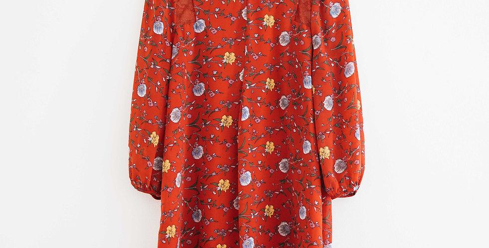 Floral Lace Panel Dress
