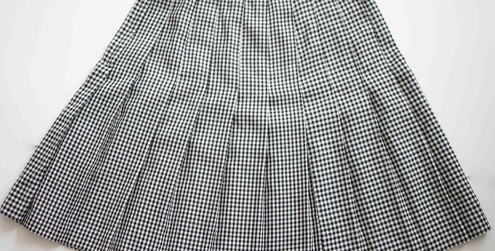 90's Gingham Pleated Skirt