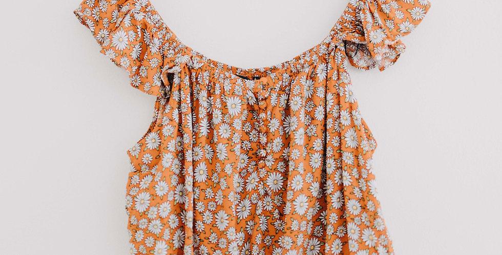 Forever 21 / Orange Daisy Crop
