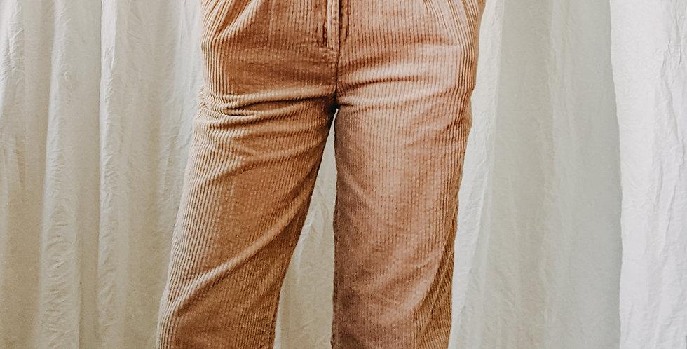 Tan Corduroy Straight Leg