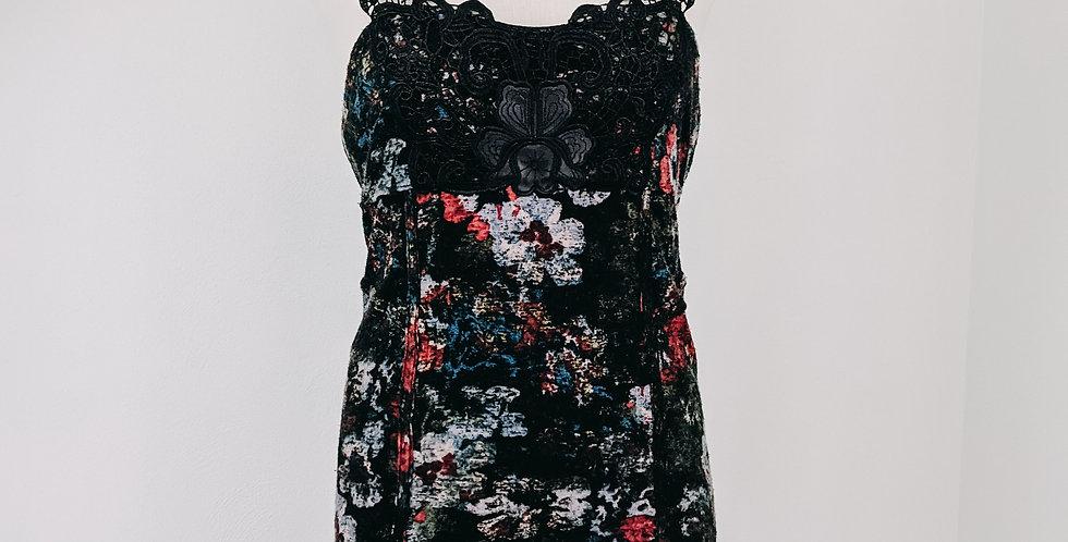 Black Floral + Lace Dress