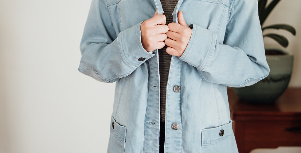 Light-wash Denim Chore Coat