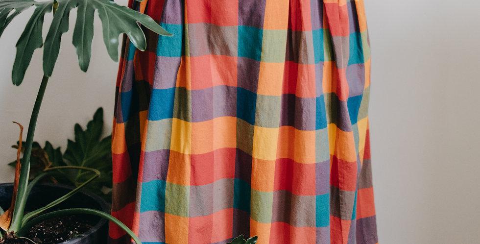 Bold Color Grid Skirt