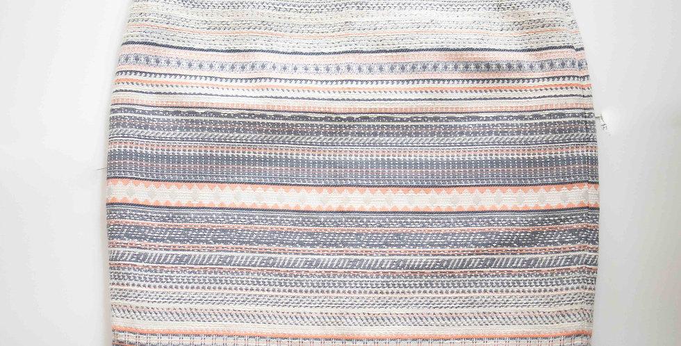 Katherine Barclay / Pink + Blue Weave Skirt