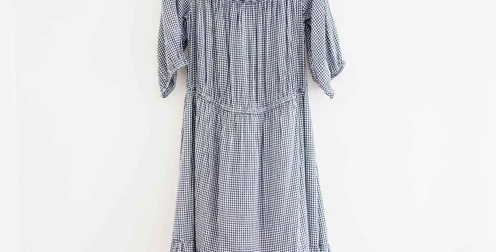 Gingham Peasant Dress
