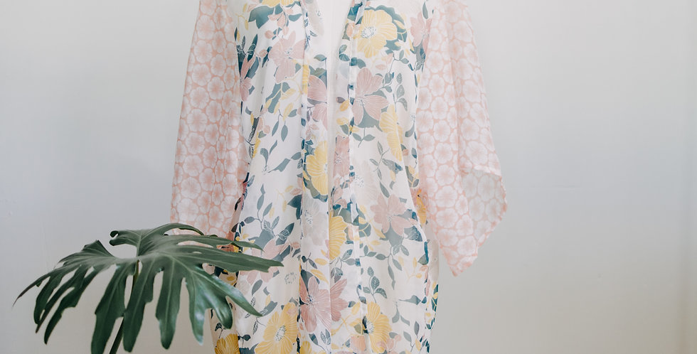Foral Sheer Cover UP