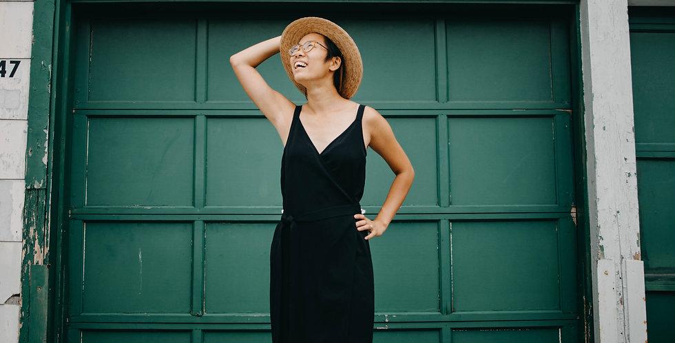 Everlane /Black Wrap Dress