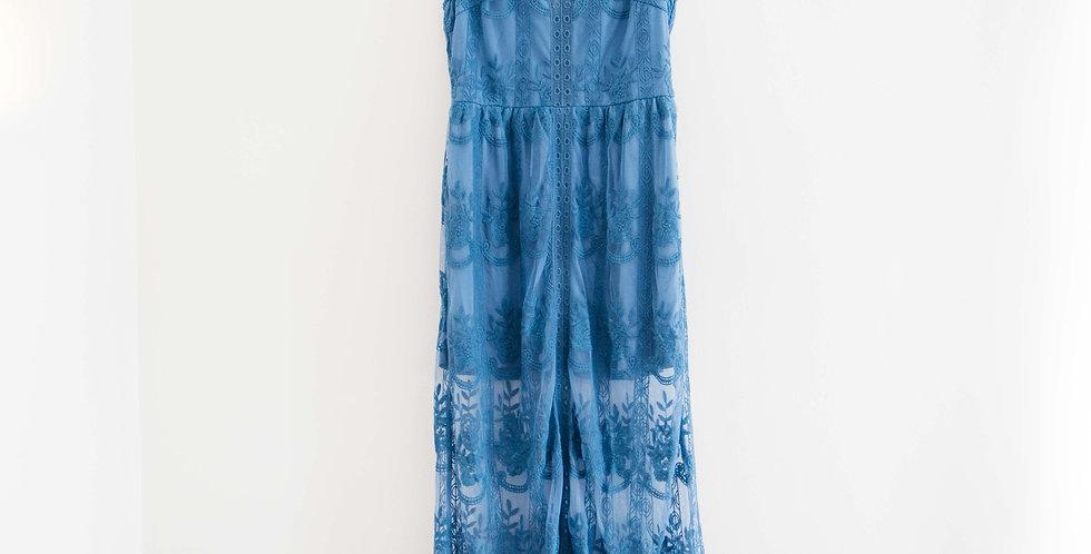 Blue Lace Maxi Dress