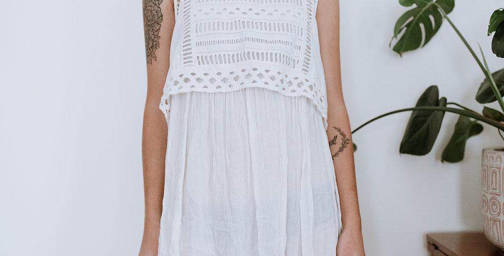 White Collared Dress